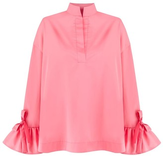 Monica Nera Gracia Pink Cotton Shirt