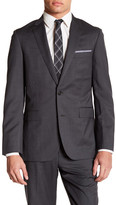 Brooks Brothers Notch Lapel Two Button Grey Wool Jacket