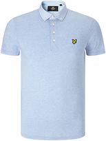 Lyle & Scott Cotton Polo Shirt, Blue Marl