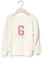 Gap Logo quilted-sleeve sweatshirt
