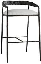 Arteriors Ansel Barstool - Sterling Linen frame, black; upholstery, sterling