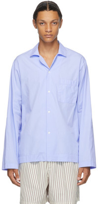Tekla Blue Pyjama Shirt
