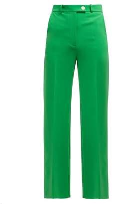 A.W.A.K.E. Mode High-rise Crepe Trousers - Womens - Green