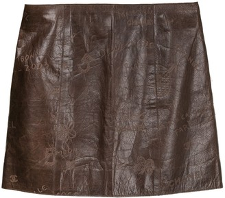 Chanel Pre Owned CC logos no.5 mini skirt