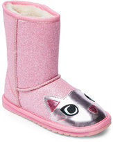 Emu Kids Girls) Pink & Rose Cat Pull-On Boots