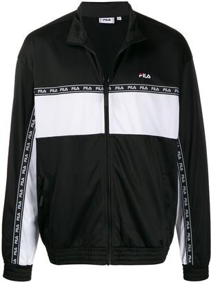 Fila embroidered logo color-block jacket