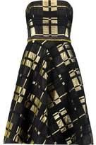Badgley Mischka Lamé Jacquard Mini Dress