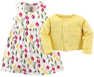 Luvable Friends Dress and Cardigan Set, 2T-5T