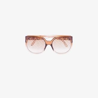 Fendi Eyewear brown square frame FF sunglasses