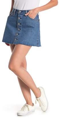 Levi's Button Front Denim Mini Skirt