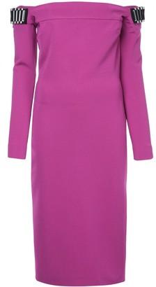 David Koma Off-Shoulder Midi Dress