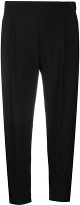 AllSaints Cropped Pleat Detail Trousers