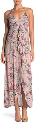 Love Stitch Halter Neck Floral Dress