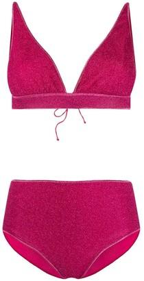Oseree Triangle High-Waisted Two-Piece Bikini