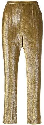 Mes Demoiselles metallic cropped trousers