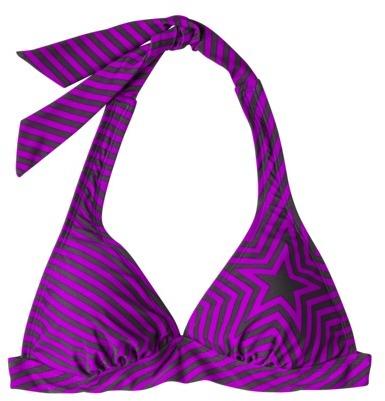 Converse One Star® Women's Star/Stripe Print Halter Swim Top