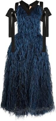 Roksanda Jasmin Feather Dress
