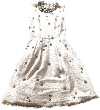 Jenny Packham White Lace Dress for Women