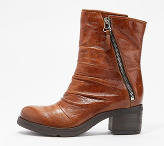 Miz Mooz Leather Zip Mid Boots - Shannon