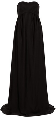 Rochas Strapless Faille Gown - Black