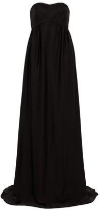 Rochas Strapless Faille Gown - Womens - Black