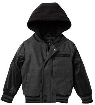 Urban Republic Mixed Media Varsity Jacket (Little Boys)