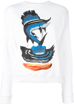 J.W.Anderson fish print sweatshirt - women - Cotton - XS