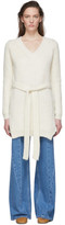 Loewe Off-White Belted Sweater