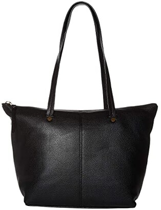 J.Crew Devon Zip Top Tote (Black) Handbags