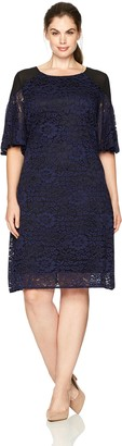 Julian Taylor Women's Plus Size Full Figured Lace Dress