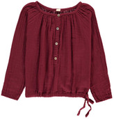 Numero 74 Naia Long Sleeve Blouse Raspberry red