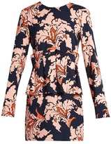 MSGM Ruffled floral-print crepe dress