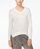 Armani Exchange High-Low V-Neck Sweater