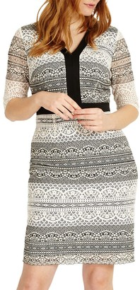 Studio 8 Aniya Dress, Black/White