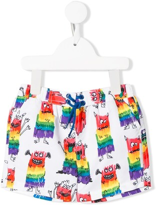 Stella McCartney monster print swim shorts