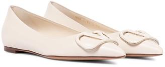 Valentino VLOGO leather ballet flats