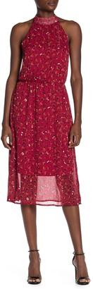 Superfoxx Halter Lurex Midi Dress