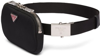 Prada Logo Plaque Pouch Belt