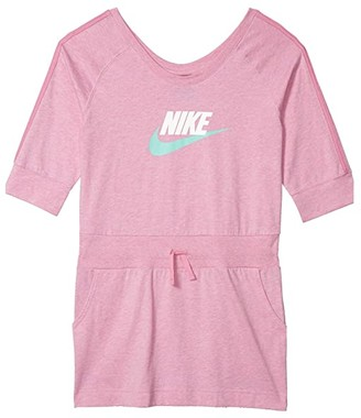 Nike Kids NSW Dress Jersey (Little Kids/Big Kids) (Magic Flamingo/Heather/Emerald Rise) Girl's Dress