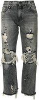R 13 Bowie distressed jeans - women - Cotton/Spandex/Elastane - 28