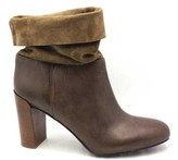"""Vince Chase"""" Taupe Leather & Suede Fold Down Cuff Bootie"""