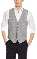 Original Penguin Men's Black and White Plaid Suit Separate Vest