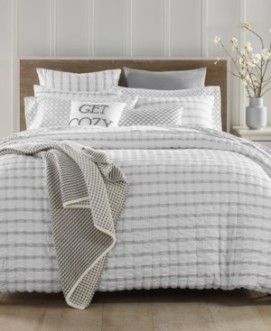 Charter Club Damask Designs Seersucker Cotton 150-Thread Count 3-Pc. King Duvet Set, Created for Macy's Bedding