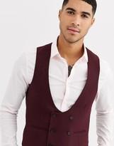 Gianni Feraud Winter Wedding Slim Fit Tweed Wool Blend Suit Vest
