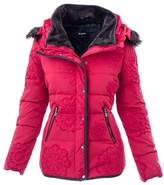 Desigual Women's Red Polyester Down Jacket.