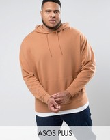 Asos Plus Oversized Hoodie In Pink With T-shirt Hem