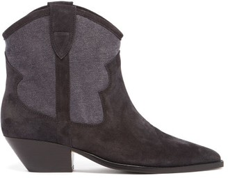 Isabel Marant Demar Suede Ankle Boots - Black