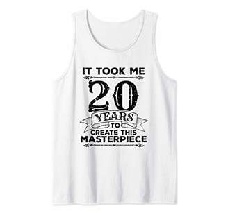 20 Years Old Funny Birthday Gag Gift Masterpiece Distressed Tank Top
