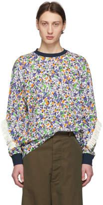Facetasm White and Multicolor Fringes T-Shirt
