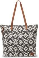 Toms Black Ikat Geometric Textile Cosmopolitan Tote Bag